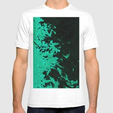 Coloured Rain Mens Fitted Tee White SMALL