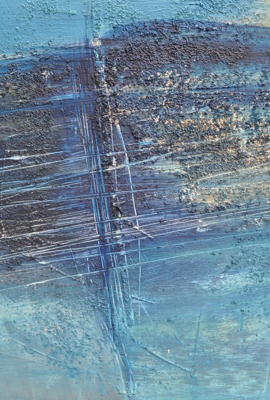 blue green abstract Art Print