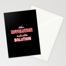 It Takes A Revolution To Make A Solution Stationery Cards