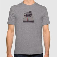 Ballpoint Pen Polaroid Mens Fitted Tee Athletic Grey SMALL