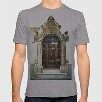 Italian door Mens Fitted Tee Athletic Grey SMALL