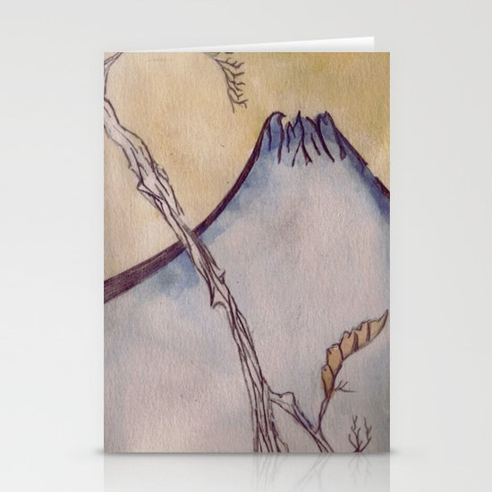 Japanese Mountain Stationery Card