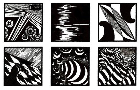 Lines and curves minimalist Art Print