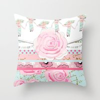 A Pocket Full of Shabby Chic Throw Pillow