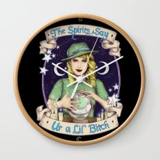 Mystic Miss Maggie Esmerelda (color) Wall Clock