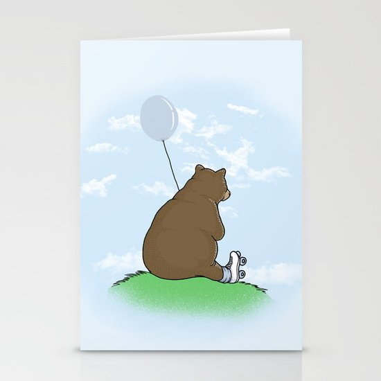 Cloudy the Bear Stationery Card