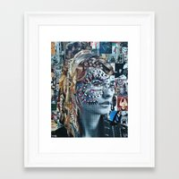 Framed Art Prints featuring Bazaar by Katy Hirschfeld
