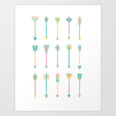Pastel Arrows Art Print