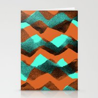 Paper collage and digital zig zags. Stationery Cards