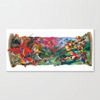 Zelda Mash Up Canvas Print