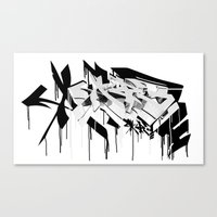graffiti - AR3 Canvas Print