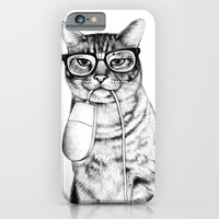 movie iPhone & iPod Cases featuring Mac Cat by florever