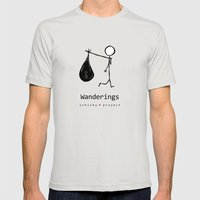 WANDERINGS By ISHISHA PR… Mens Fitted Tee Silver SMALL