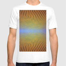 mirage SMALL White Mens Fitted Tee