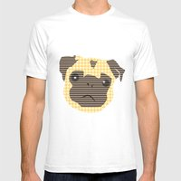 Pug! Mens Fitted Tee White SMALL
