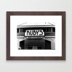 Grandma's Diner Framed Art Print