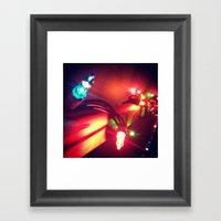 Christmas Lights Framed Art Print