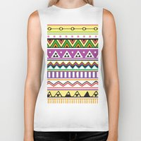 Colouful Aztec Biker Tank