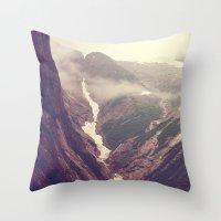 Alaska mountains - Tracy Arm Throw Pillow