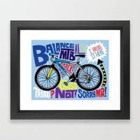 All My Bikes: 8, Balance AL550 Framed Art Print