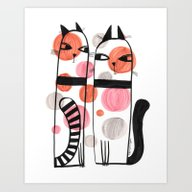 SPOTTED CATS Art Print