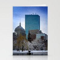 Winter In Boston Stationery Cards