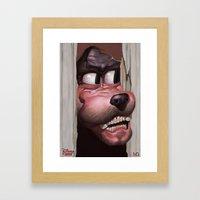 Heeere's Goofy! Framed Art Print