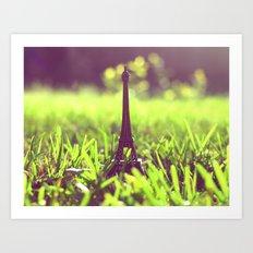 The Eiffel Tower in my backyard Art Print