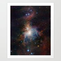 Orion Nebula VISTA's Inf… Art Print