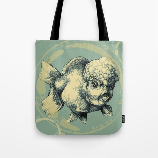 Bubble Head Fish Tote Bag