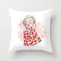 RED SHIRT Throw Pillow