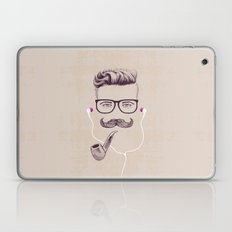 Hipster With Pipe Laptop & iPad Skin