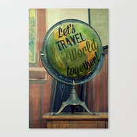 Let's Travel The World T… Canvas Print