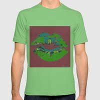 Lips Mens Fitted Tee Grass SMALL