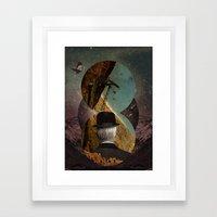 Starlit Rafting Framed Art Print