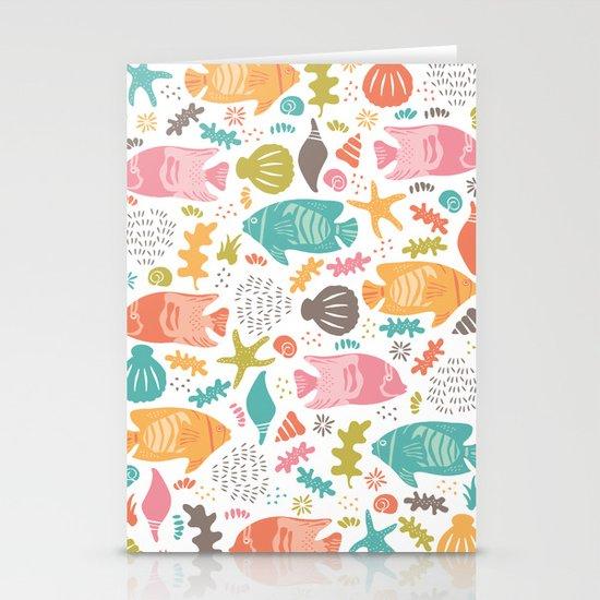 Retro Fish Stationery Card