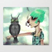 Punk N' A Bird Canvas Print