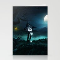 Witch At THE NIGHTMARE Stationery Cards