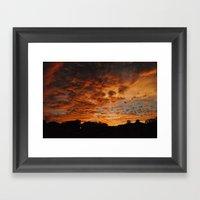Cloudy Sunset Framed Art Print