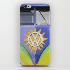 Vintage Volkswagen Van Microbus Splitty with Sun iPhone & iPod Skin