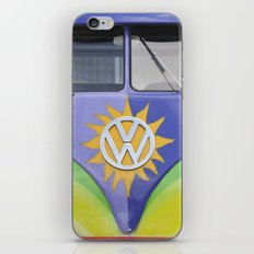 Vintage Volkswagen Van Microbus Splitty with Sun iPhone & iPod Skin