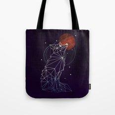 Fox in the Stars Tote Bag