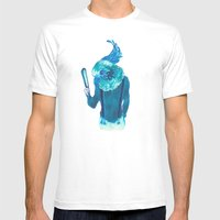 Baby Blue #1 Mens Fitted Tee White SMALL