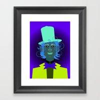 Willy Wonka From Charlie… Framed Art Print