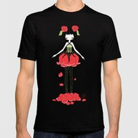Rose Mens Fitted Tee Black SMALL