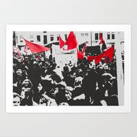 Black And Red - Free Shi… Art Print