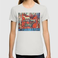 Street Dogs. Womens Fitted Tee Silver SMALL