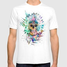 SKULL - WILD SPRIT Mens Fitted Tee White SMALL