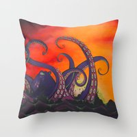 The Fight Throw Pillow