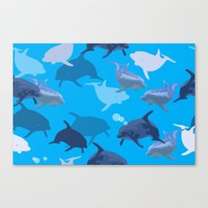 Aquaflage Canvas Print
